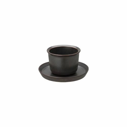 Leaves to tea cup & saucer black