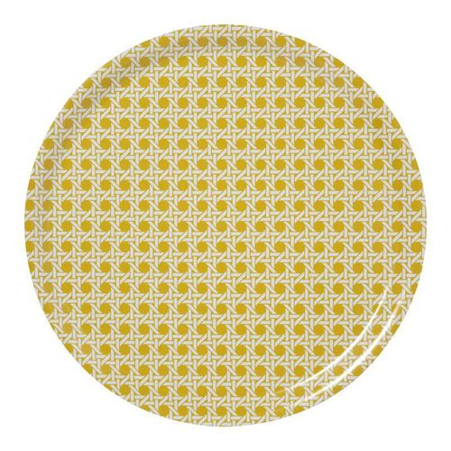 Wien 1900 yellow round medium tray